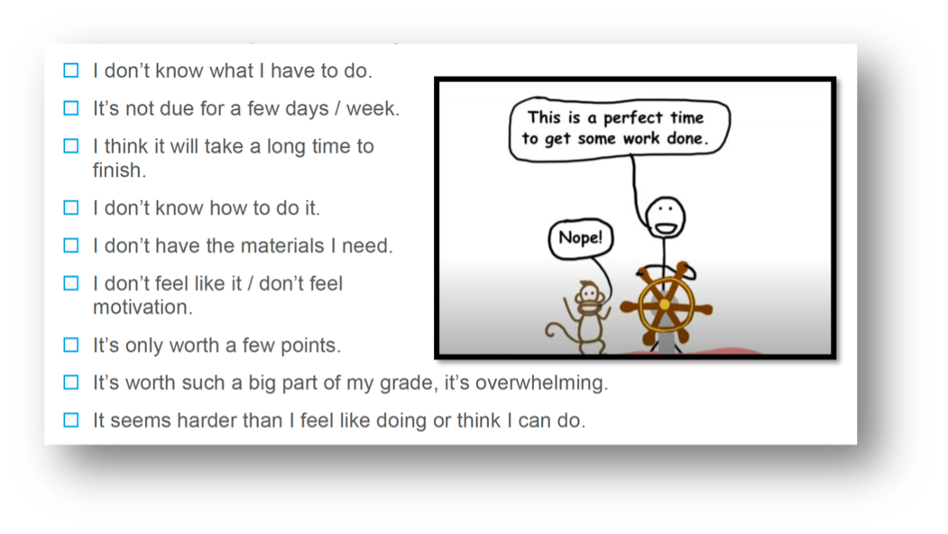 """For our procrastinators, understanding your """"why"""" is a key part of initiation."""